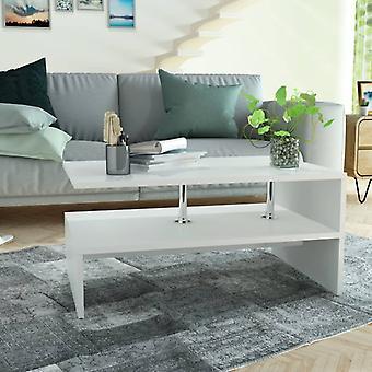 vidaXL Table basse 90 x 59 x 42 cm blanc