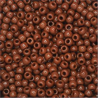 Toho Round Seed Beads 11/0 46L 'Opaque Terra Cotta' 8 Gram Tube