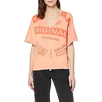 G-STAR RAW Joosa Circle Originals Straight T-Shirt, Orange (lt Tangerine B059-B454), XL Woman