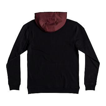 DC Rebel half zip Pullover Hoody in zwart