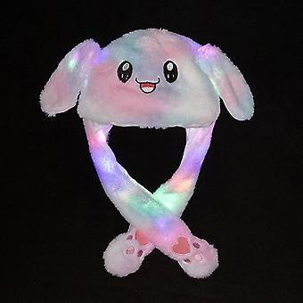 Pluche bewegende konijn oren hoed, hand, knijpen airbag, magneet lange oren, schattig