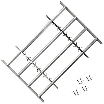 Adjustable Security Grille for Windows with 4 Crossbars Galvanised Steel
