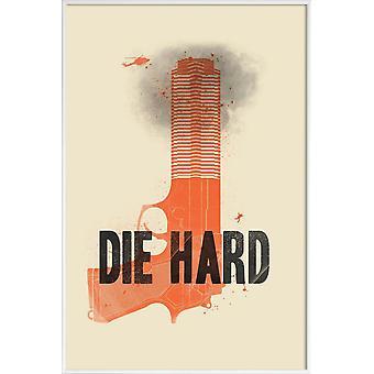 JUNIQE Print -  Die hard - Filme Poster in Orange & Schwarz