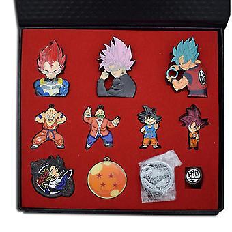 Anime Dragon Ball Z Keychain Necklace Set Son Goku Master Roshi