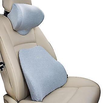 Niskatuen harmaa korkeatiheyksinen muistivaahto ergonominen istuimen selkänojatyyny lihaskipuun ja jännityksen lievittämiseen x4964