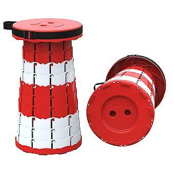 赤い携帯用伸縮性の便軽量頑丈な折りたたみ式スツールx4622