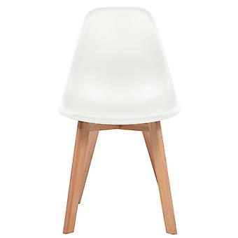 vidaXL Esszimmerstühle 6 Stk. Weiß Kunststoff