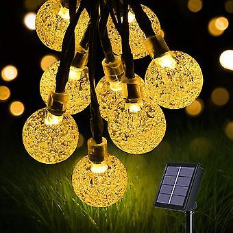 Solar string lights garden lights (60 leds 8 modes) 11m / 36ft crystal balls outdoor waterproof lamp dt5933