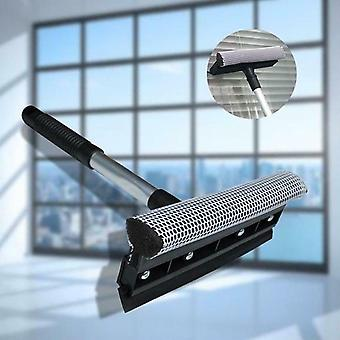 Extendable Window Squeegee Cleaner Soft Scraper Brush