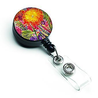 Caroline Schätze Blume, Aster versenkbare Abzeichen Reel, mehrfarbig (6077Br)