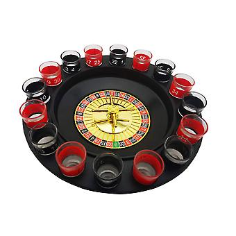 Bar Grappige Tools Rusland Draaitafel Shot Glas Drinken Roulette Spel Set 16 Holes Party Spin Wheel Bordspel Speelaccessoires