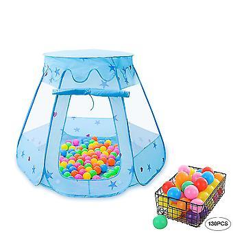 Kinderen Spelen Tent met 130 stuks Ocean Ball, Opvouwbare Hexagon Castle Play Tent voor kinderen Indoor en