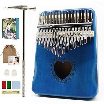 קלימבה 17 מפתח אגודל פסנתר באיכות גבוהה עץ מהגוני mbira גוף כלי נגינה אפריקה קלימבה פסנתר עם אביזרים