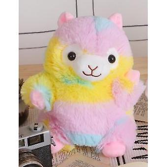 Cute Super Cute Creative Toy Rainbow Alpaca Hand Puppet Plush Toy Child  Education Storytelling Doll