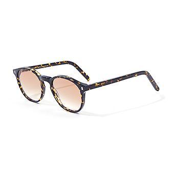 Monokel Eyewear Nelson Brown Tortoise Gradient Lens Sunglasses