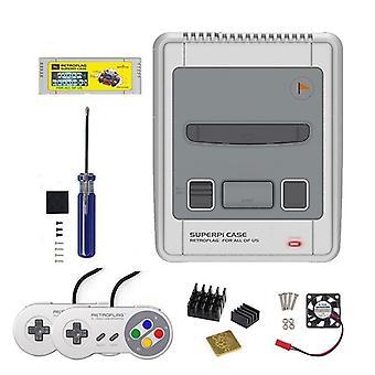 Retroflag Superpi Case-j Snes Spielkassette mit Kühllüfter & Kühlkörper
