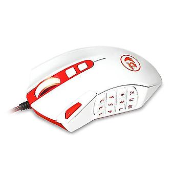 18 Buttons Mouse High Precision Gamer Mice(white)