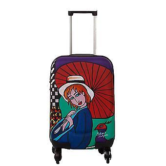 Biggdesign Girl with the Umbrella Suitcase 18 inch