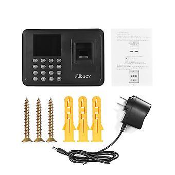 Biometrische vingerafdruk wachtwoord aanwezigheid machine