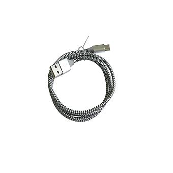Usb Charge Cord With Type C Nylon Braided Dragon Pattern Data Cable