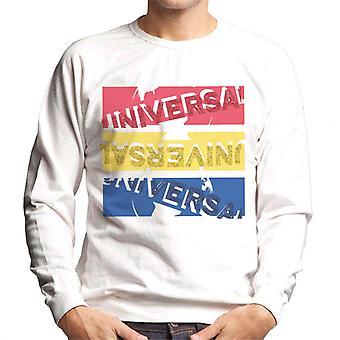 Universella bilder Röd Gul Blå Logotyp Herr Sweatshirt