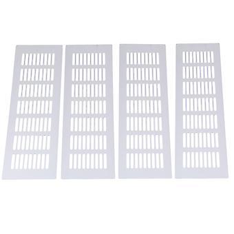 Vents flues 4pcs alloy louvre grille air vent ventilation cover 8pcs 30cm silver