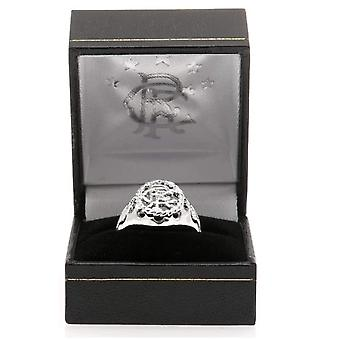 Rangers FC Silver Plated Crest Ring Mały