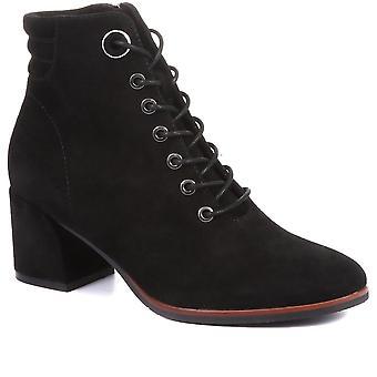 Regarde Le Ciel Womens Vania Lace Up Suede Ankle Boots