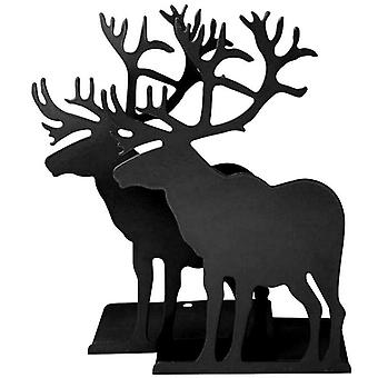 Elk Design Book Stand Exquisite Bookends Frame Iron Book Stand Creative Bookends Stationery