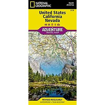 United States California And Nevada Adventure Map by National Geographic Maps