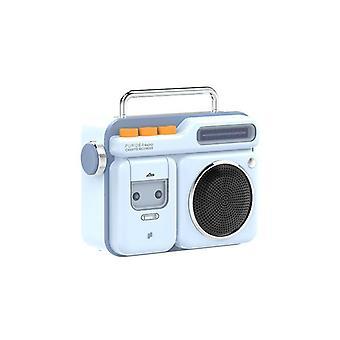 Retro Radio Shape HiFi Wireless Bluetooth Speaker Mini Portable Bluetooth Speaker Speakers(Blue)