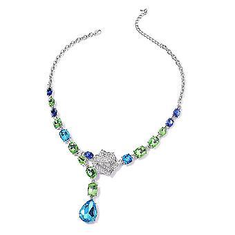 Kragen Halskette 20 '' Multiple Glas und synthetische Kristall für Frau / Mutter 2.2ct
