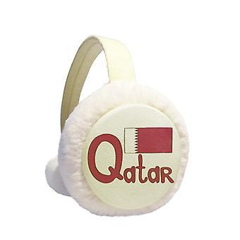 Qatarin kansallinen lippu violetti kuvio talvi earmuff