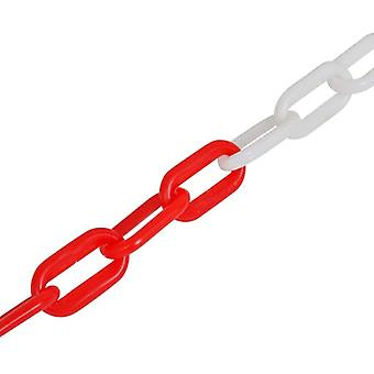 Road Cone Chain, Red And White Plastic, Warning Chain Isolation (a)