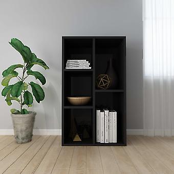 Chunhelife Book Cabinet / buffet Haute Brillance Noir 50x25x80 Cm Aggloméré