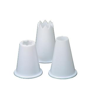 Swift Set of 3 Plastic Food Piping Nozzles