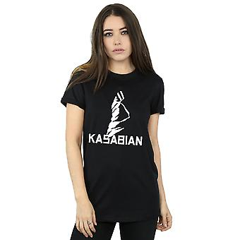 Kasabian Women's Ultraface Logo Boyfriend Fit T-Shirt