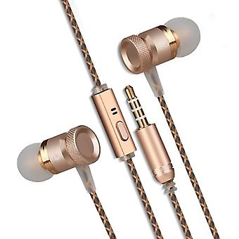 REYTID In-Ear Earphones Headphones, High Definition Sound, Heavy DEEP Bass with Metal Mic Compatible with iPhone and Android