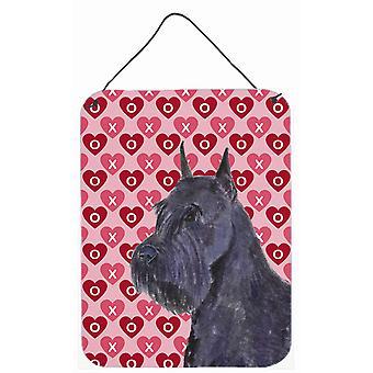 Schnauzer Herzen Liebe Valentinstag Wand oder Tür hängen drucken
