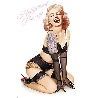Marilyn tatueringar (Hollywood Pin-Up) affisch Skriv (12 x 18)
