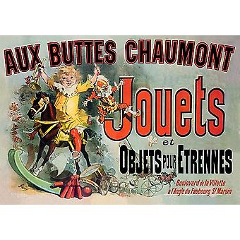 Aux Buttes Chaumont Kahden hengen Ranskan ystäviä TV Juliste Tulosta (8 x 10)