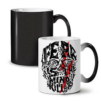 恐怖心キラー新しい黒い色のお茶を変更コーヒー セラミック マグカップ 11 オンス |Wellcoda