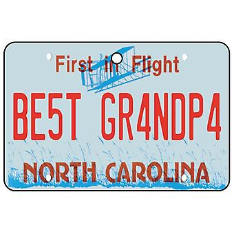 North Carolina - Best Grandpa License Plate Car Air Freshener