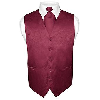 Mannen Paisley ontwerp jurk Vest & stropdas nek stropdas Set