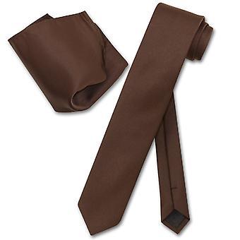 "Vesuvio Napoli Skinny 2,5"" Set Krawatte Tuch Krawatte"
