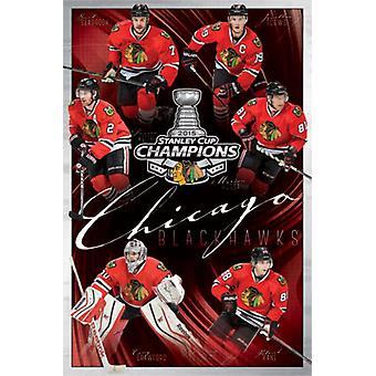 2015 Chicago Blackhawks Stanley Cup - Champs Juliste Tulosta