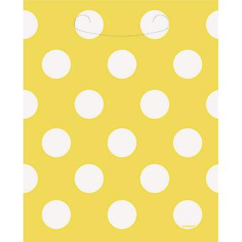 Unique Party Polka Dot Loot/Gift Bags (Pack Of 8)