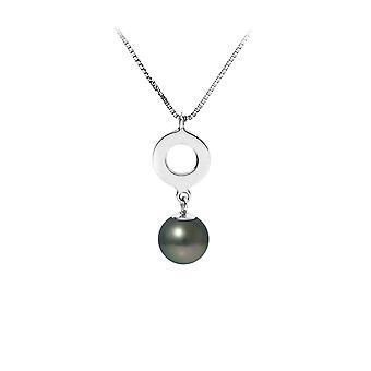 Perle av Tahiti anheng og Chaine i Massiv Sølv 925