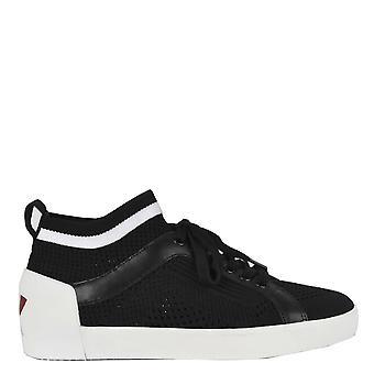 Ash Footwear Nolita Black & White Knit Trainer