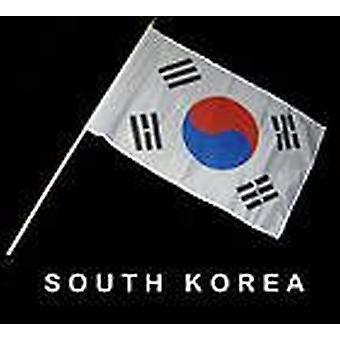 Etelä-Korea Hand Held lippu